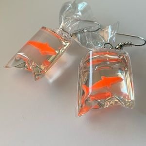 Bag of Goldfish earrings